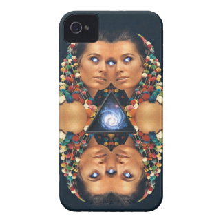 """""""Galaxy Twins I"""" Psychedelic Art Print Case-Mate iPhone 4 Case"""