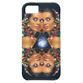 """""""Galaxy Twins I"""" Psychedelic Art Print iPhone 5 Covers"""