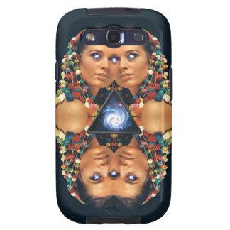 """""""Galaxy Twins I"""" Psychedelic Art Print Galaxy SIII Case"""