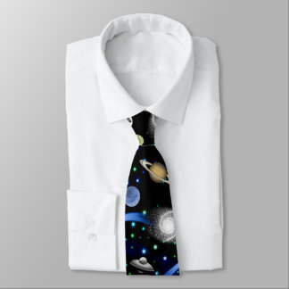 Galaxy Universe - Planets, Stars, Comets, Rockets Tie