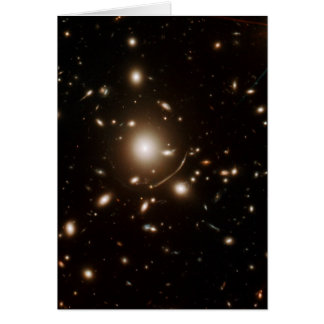 Galaxy Universe Space Telescope Gravitational Lens Greeting Card