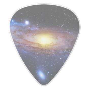 Galaxy Unknown White Delrin Guitar Pick by TheScienceShop at Zazzle