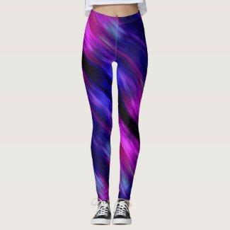 Galaxy Watercolor Swirl Leggings