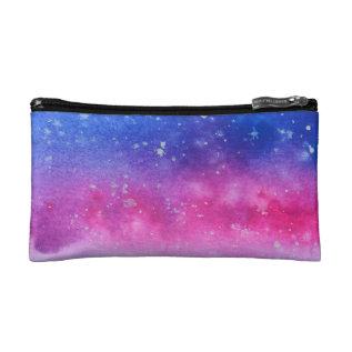 Galaxy Watercolour Makeup Bag at Zazzle