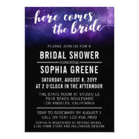 Galaxy Wedding Celestial Bridal Shower Invitation