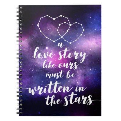 Galaxy Wedding Constellation Written In The Stars Notebook