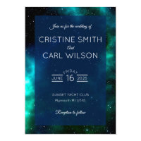 Galaxy wedding invitation