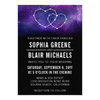 Galaxy Wedding Invitation | Hearts Constellation