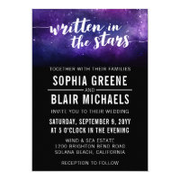 Galaxy Wedding Invitation | Written In The Stars
