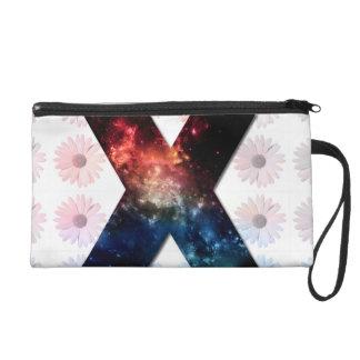 Galaxy X and Daisy Pattern Wristlet Purses
