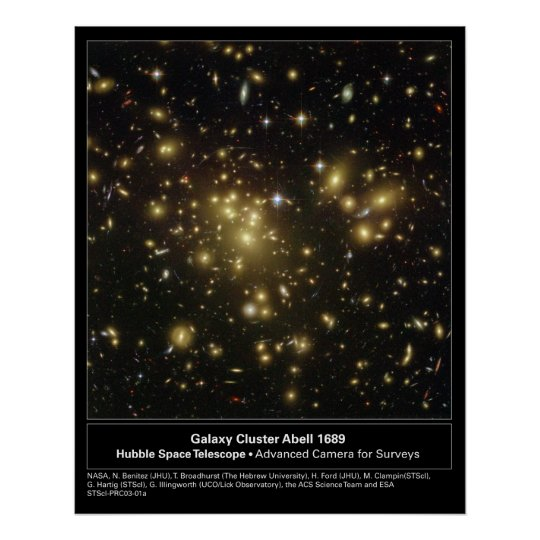 GalaxyClusterAbell1689-2003-01a Poster