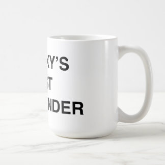 Galaxy's Best Commander Classic White Coffee Mug