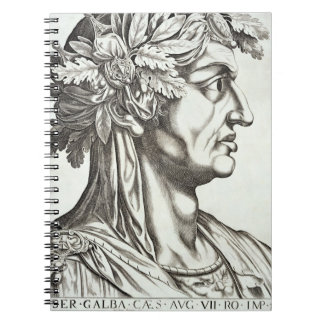 Galba Caesar (3 BC-69 AD), 1596 (engraving) Notebook