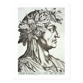 Galba César (3 BC-69 ANUNCIO), 1596 (grabado) Postal