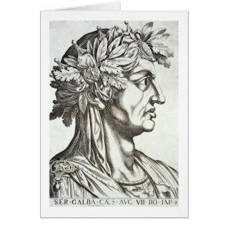 Galba César (3 BC-69 ANUNCIO), 1596 (grabado) Tarjeta De Felicitación