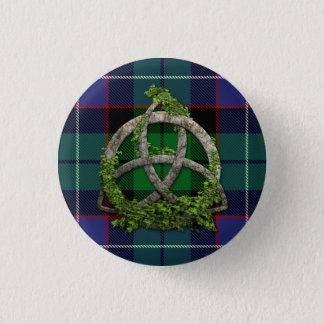 Galbraith Tartan And Celtic Trinity Knot Pinback Button