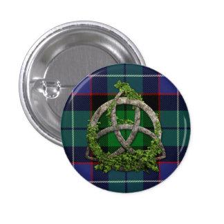 Galbraith Tartan And Celtic Trinity Knot Pinback Button
