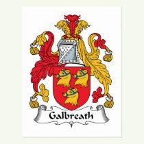 Galbreath Family Crest Postcard
