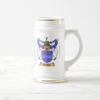 Gale name, the Origin, the Meaning and the Crest Beer Stein
