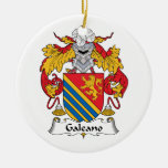 Galeano Family Crest Christmas Tree Ornament