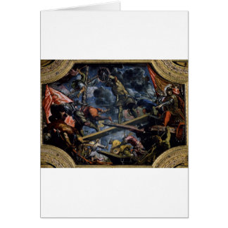 Galeas For Montes by Tintoretto Card