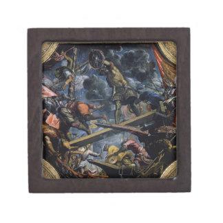 Galeas For Montes by Tintoretto Keepsake Box