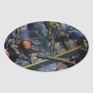 Galeas For Montes by Tintoretto Oval Sticker