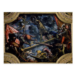 Galeas For Montes by Tintoretto Postcard