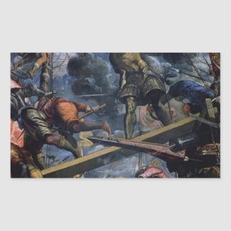 Galeas For Montes by Tintoretto Rectangular Sticker