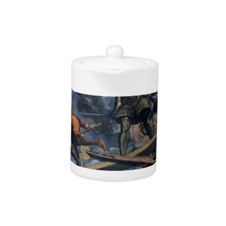 Galeas For Montes by Tintoretto Teapot