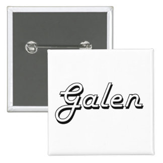 Galen Classic Retro Name Design 2 Inch Square Button