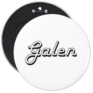 Galen Classic Retro Name Design 6 Inch Round Button
