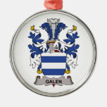 Galen Family Crest Christmas Ornament