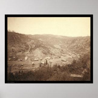 Galena Dakota del Sur 1890 Póster