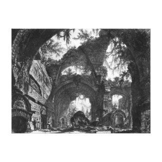 Galería arruinada del chalet Adriana en Tivoli Impresion En Lona