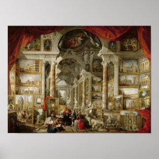 Galería con vistas de Roma moderna, 1759 Póster