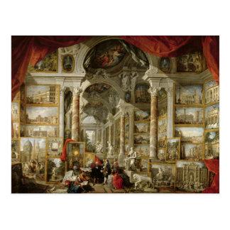 Galería con vistas de Roma moderna, 1759 Tarjetas Postales