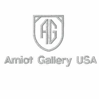 Galería de Amiot sudada - etiqueta de plata Sudadera Bordada Con Capucha Y Cremallera
