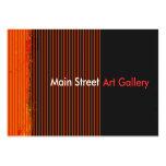 Galería de arte abstracto tarjetas de visita