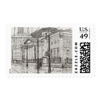 Galería de arte de la ciudad Manchester. 2007 Timbres Postales