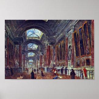 Galería de arte del detalle del Louvre de Roberto  Poster
