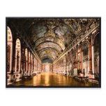 Galería de espejos, vintage Pho de Versalles, Fran Postales