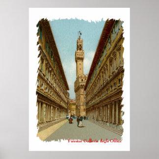 Galería de Florencia Uffizi de la acuarela Impresiones