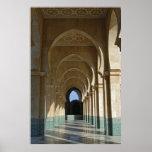Galería de la arcada en la mezquita de Hassan II,  Póster
