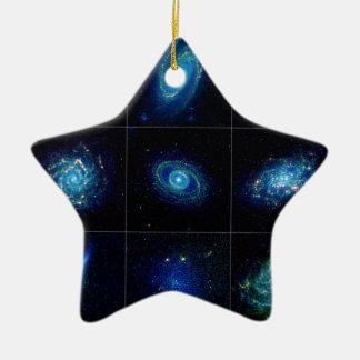 Galería de la galaxia - nueve galaxias espectacula adorno de navidad