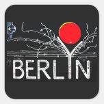 Galería de la zona este, muro de Berlín, alambre d Calcomania Cuadrada Personalizada
