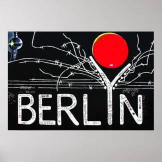 Galería de la zona este, muro de Berlín, alambre d Póster