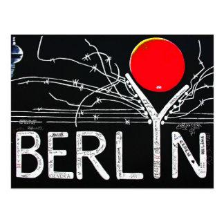 Galería de la zona este, muro de Berlín, alambre Tarjeta Postal