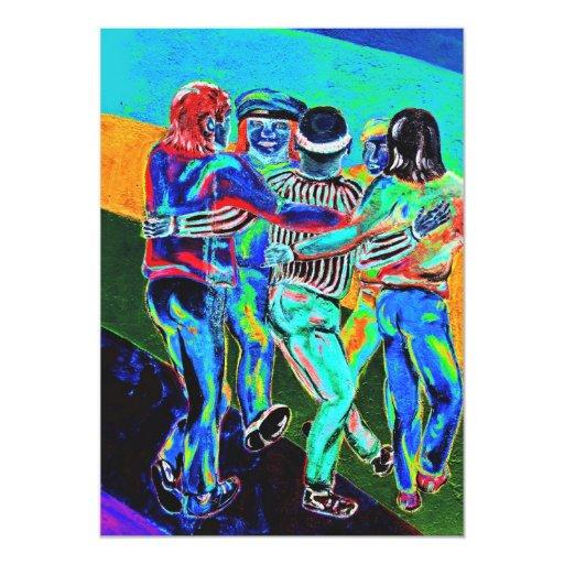 """Galería de la zona este, muro de Berlín, baile (3) Invitación 5"""" X 7"""""""
