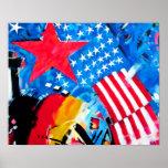 Galería de la zona este, muro de Berlín, banderas Posters